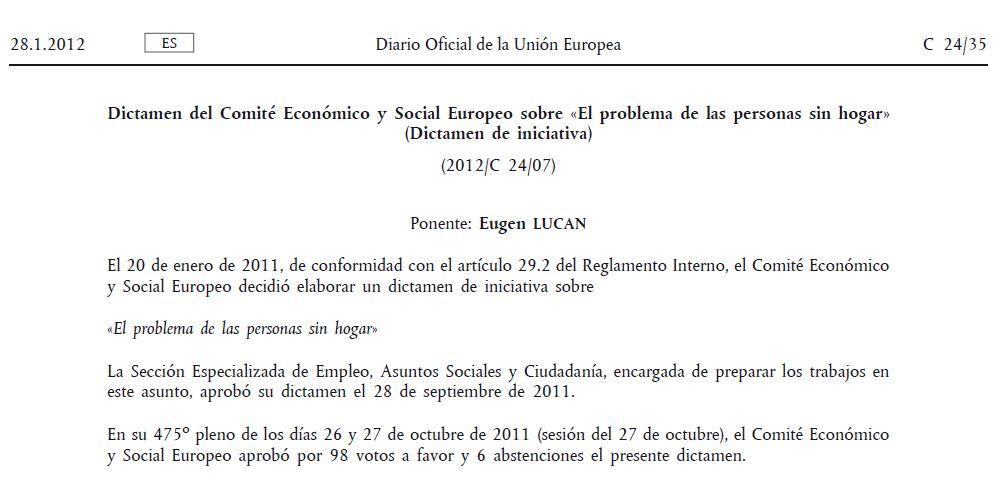 Dictamen del Comitè Econòmic i Social Europeu