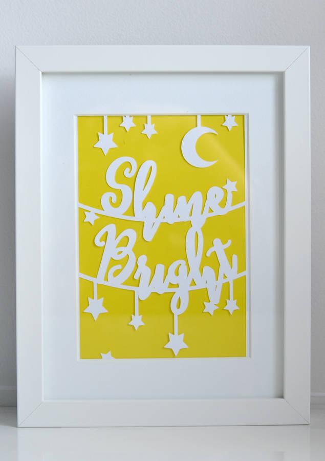 original_unframed-paper-cut-shine-bright-print