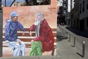 Mural per trencar prejudicis d'Arrels
